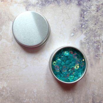 Petite Pots ~ Iridescent Micro Sequins - Blue 01