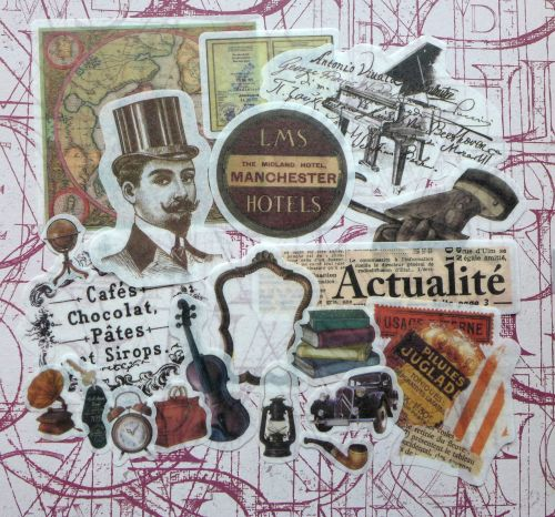 Gentlemen Tissue Paper Stickers (PA016)