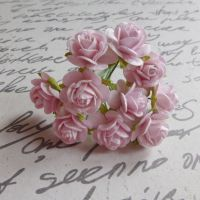 Mini Rose Flowers ~ Pale Pink (PF005)