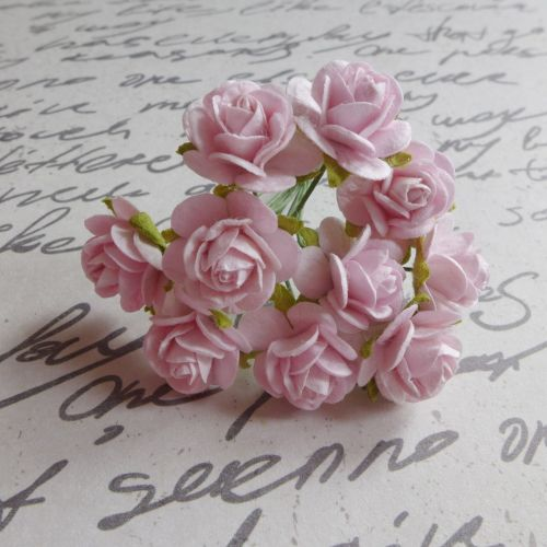 Mini Rose Flowers ~ Pale Pink (PF048)