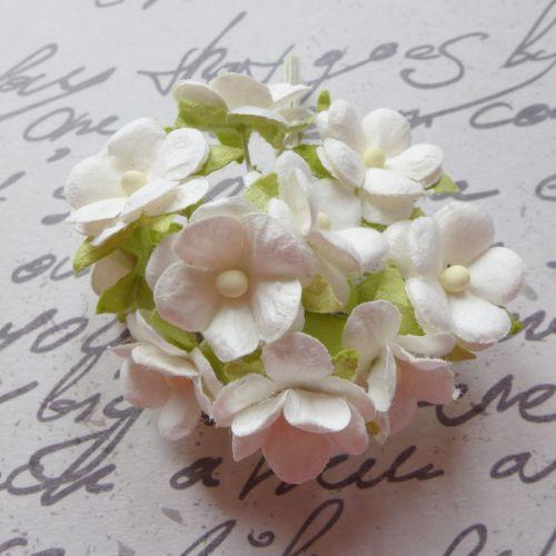 Mini Cherry Blossoms ~ White (PF056)