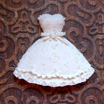 White Resin Sweet Dress (R7024)