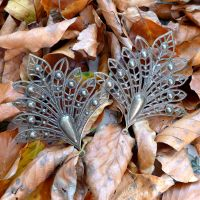 Bronze Filigree Fan Leaves (C132)