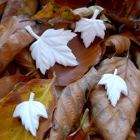 White Resin Maple Leaves (R7042)