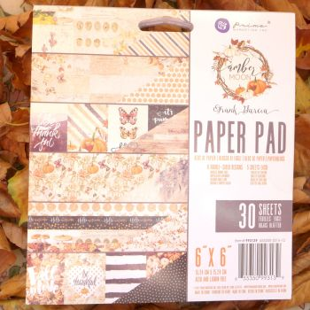 "Prima Paper Pad - Amber Moon 6 x 6"""