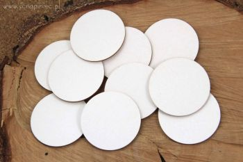 ATCOINS - White Chipboard Circles 6cm