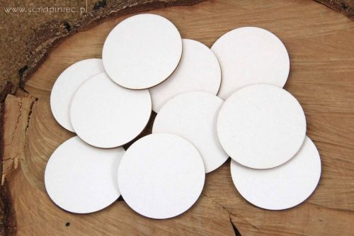 White Chipboard Circles 6cm for ACTOINS