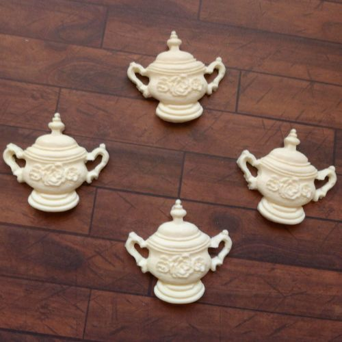 Resin Cooking Pots - set of 4 - 3.5cm