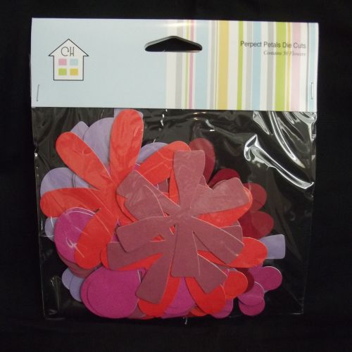 Large Light Card Flowers - Reds/Purples Pack 50