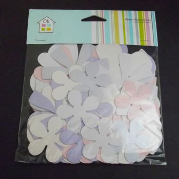 Large Die Cut Flowers - Pinks/Lilac's Pack of 50