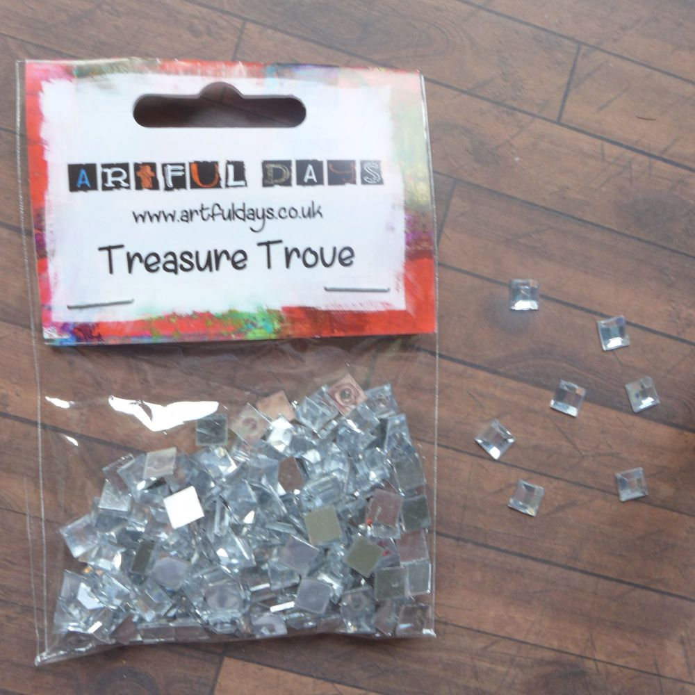 Clear Gem Squares - 6mm - Approx 150