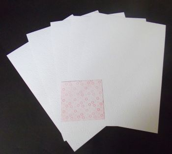Embossed White Card 5 Sheets of A4 - Little Flowers
