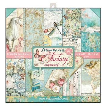 "Stamperia Wonderland 12 x 12"" Double sided Scrapbooking Papers"