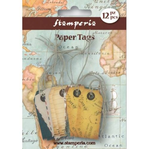 Stamperia Paper Tags - Coloured Mail