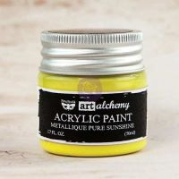 Prima Art Alchemy Acrylic Paint - Metallique Pure Sunshine
