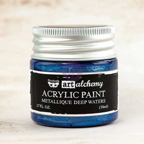 Prima Art Alchemy Acrylic Paint - Metallique Deep Waters