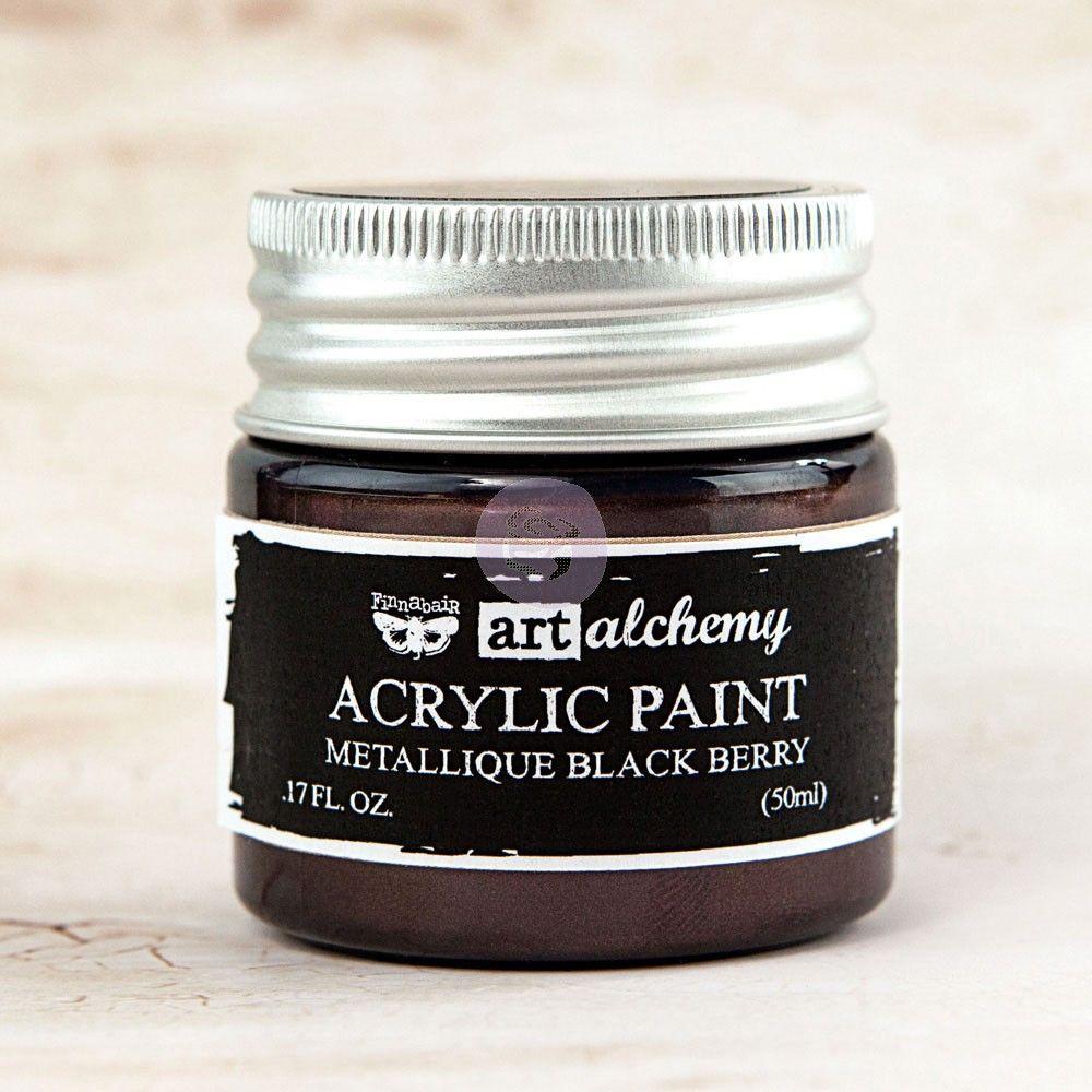 Prima Art Alchemy Acrylic Paint - Metallique Black Berry