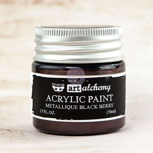 Prima Art Alchemy Acrylic Paint - Metallique Black Berry