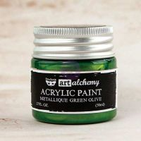 Prima Art Alchemy Acrylic Paint - Metallique Green Olive