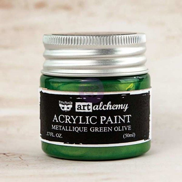 Prima Art Alchemy Acrylic Paint - Metallique Green Olive