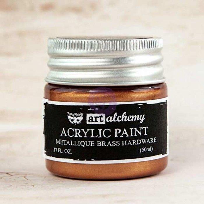 Prima Art Alchemy Acrylic Paint - Metallique Brass Hardware