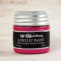 Prima Art Alchemy Acrylic Paint - Metallique Wild Fuchsia
