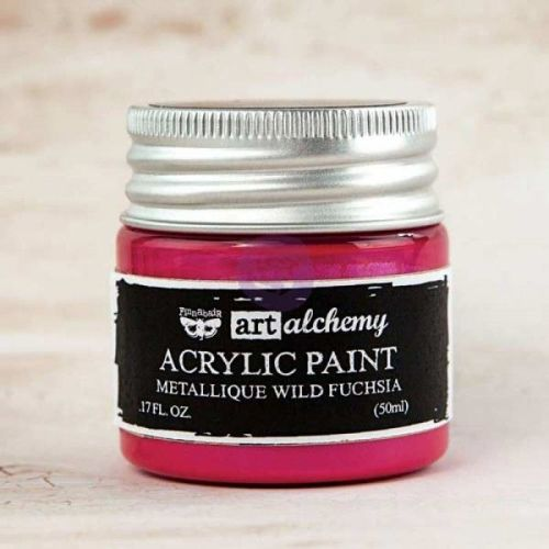 Prima Art Alchemy Acrylic Paint - Metallique Wild Fuchsia