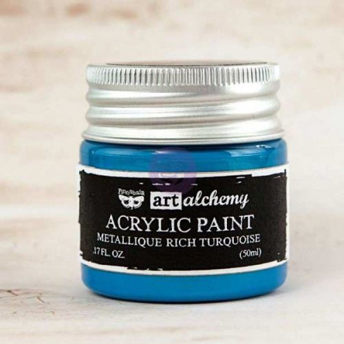 Prima Art Alchemy Acrylic Paint - Metallique Rich Turquoise