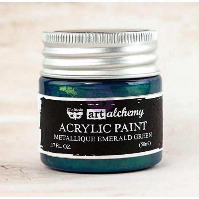 Prima Art Alchemy Acrylic Paint - Metallique Emerald Green