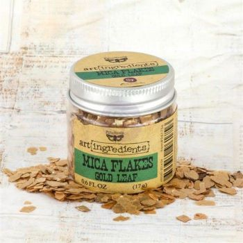 Prima Finnabair Art Ingredients - Mica Flakes Gold Leaf