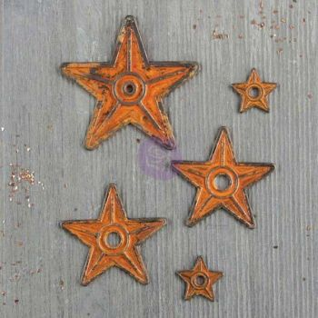 Prima Finnabair Mechanicals - Barn Stars