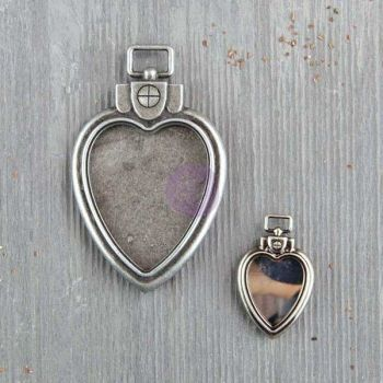 Prima Finnabair Mechanicals - Heart Locket Pendants