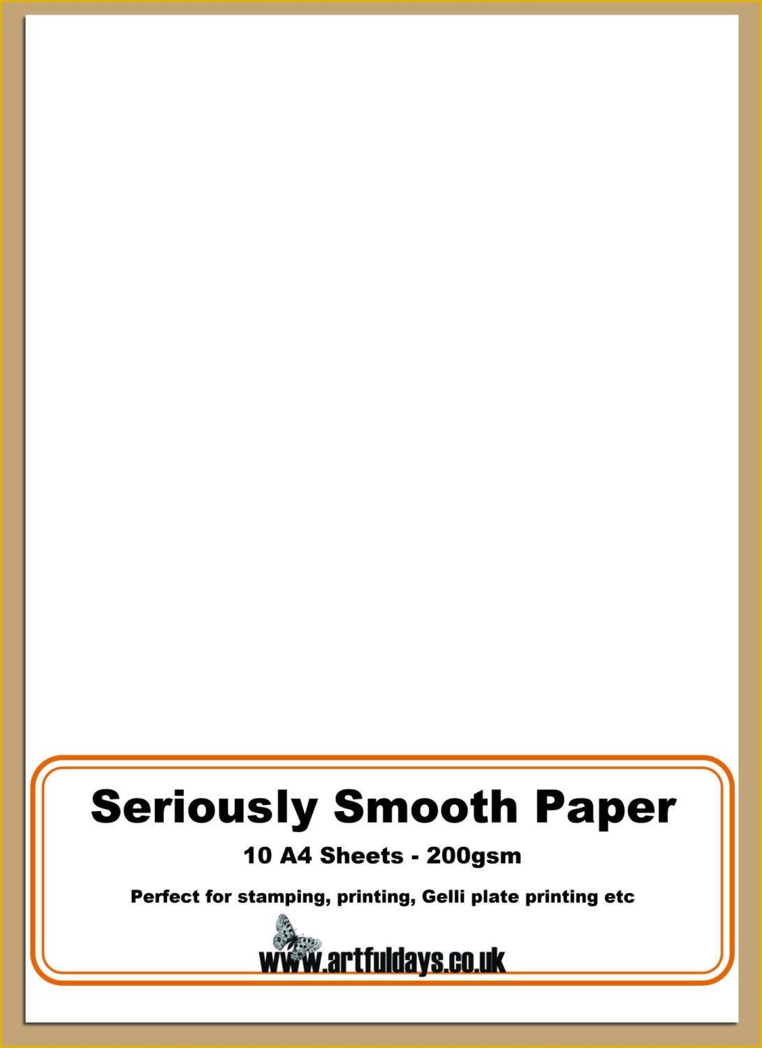 Seriously Smooth Stamping Paper A4 Pack
