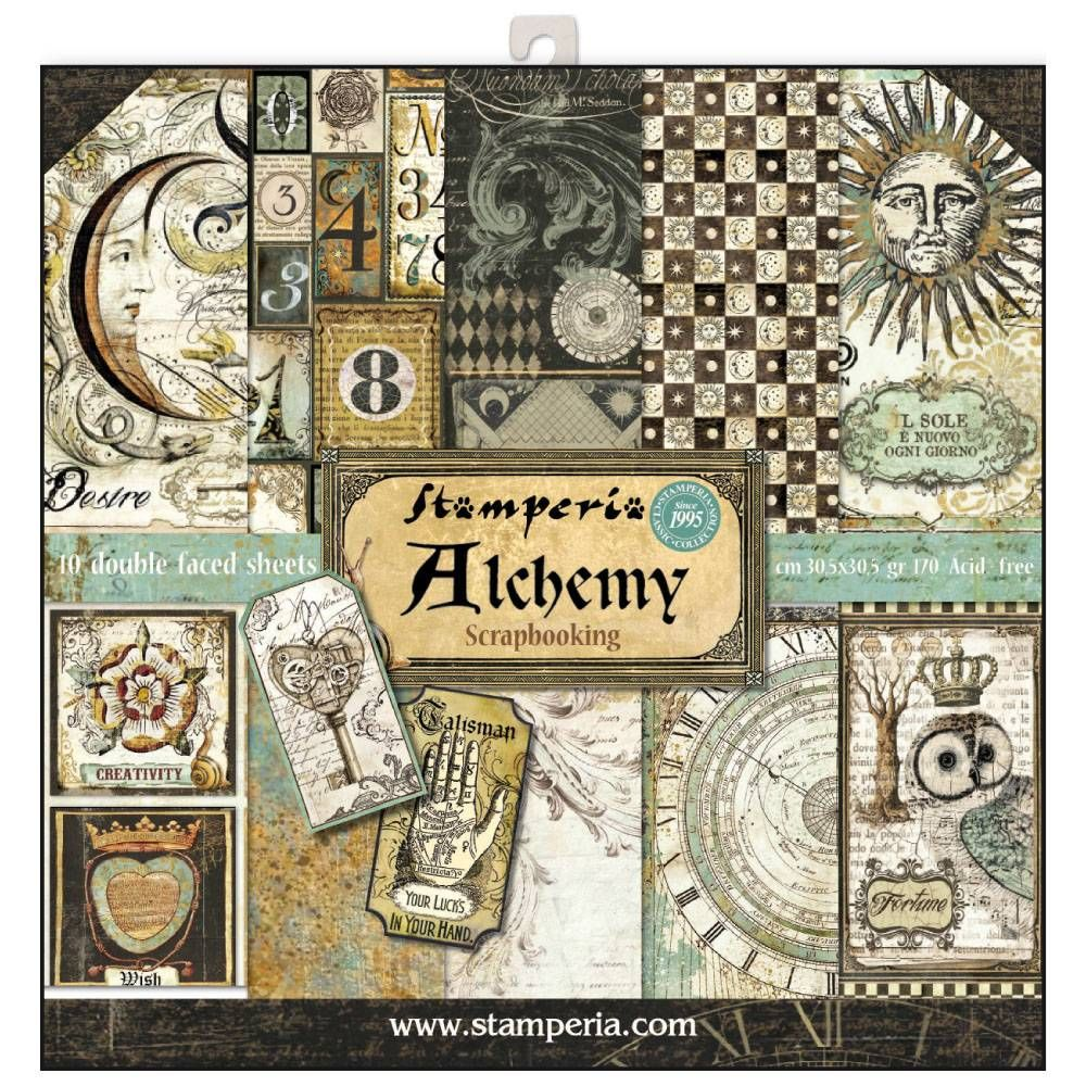 Stamperia Alchemy 12x12 Inch Paper Pack