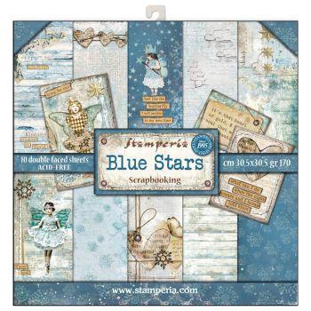 Stamperia Blue Stars 12x12 Inch Paper Pack