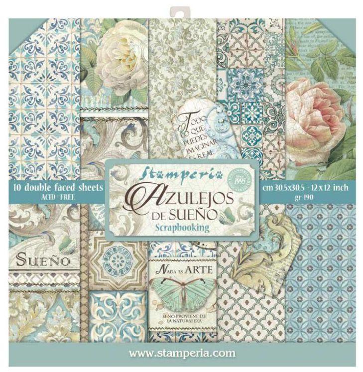 Stamperia 12x12 Inch Azulejos Paper Pack
