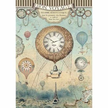Stamperia Voyages Fantastiques A4 Rice Paper Balloon (DFSA4370)