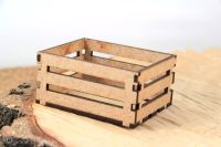 Tiny Wooden MDF Crate (5348)