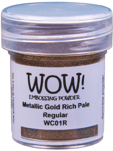 WOW Embossing Powder - WC04 Metallic Gold Rich