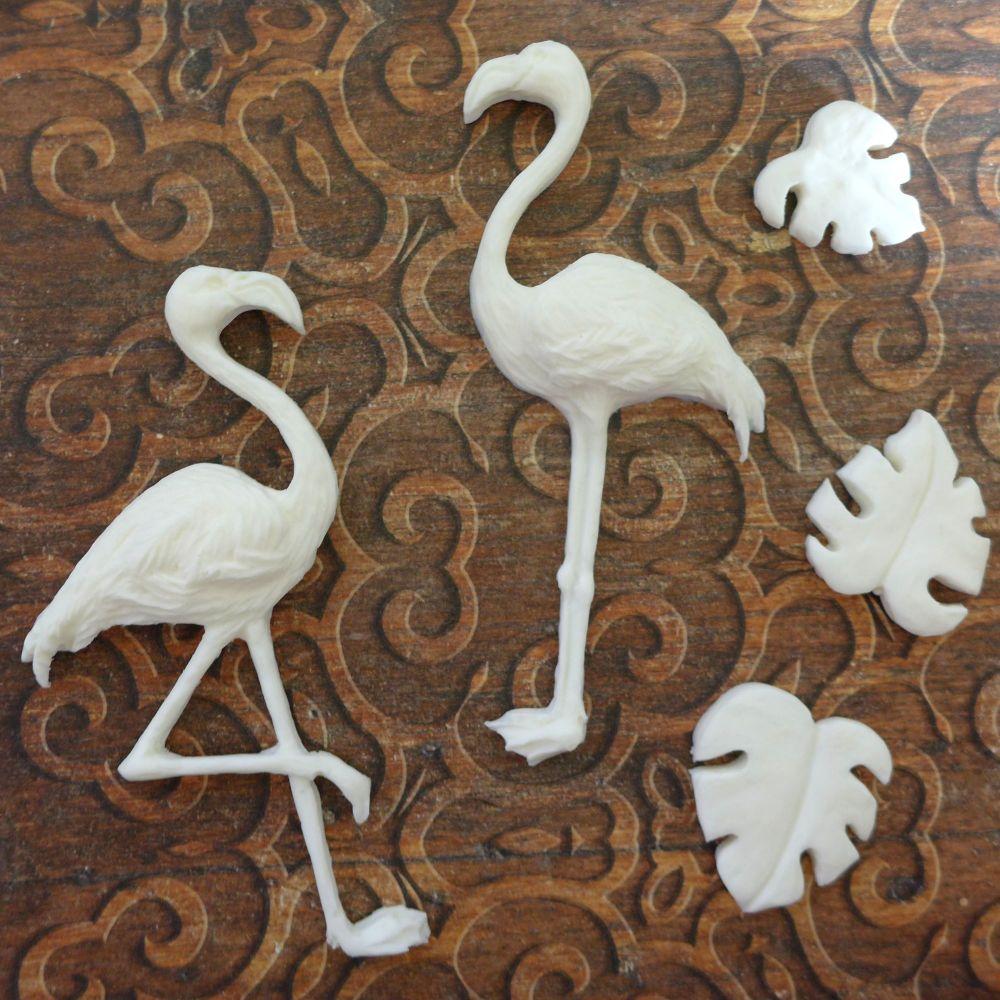 White Resin Flamingos (R7052)