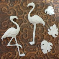 White Resin Flamingos (R7010)