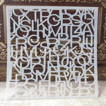 Stencil ~ Alphabet Jumble