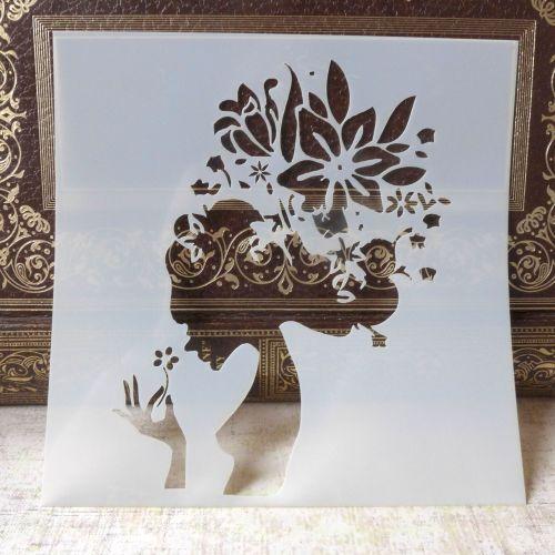 Stencil ~ Flower Girl