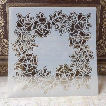 Stencil ~ Flower Wreath