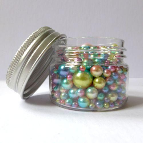 No Hole Mermaid Beads - Rainbow