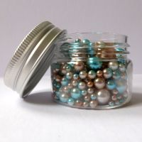 No Hole Mermaid Beads - Blue Latte