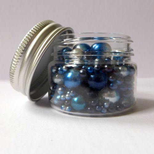 No Hole Mermaid Beads - Silver Lake