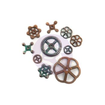 Prima Finnabair Mechanicals - Rustic Knobs