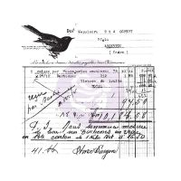 Prima Finnabair Clear Cling Stamps - Old Receipt