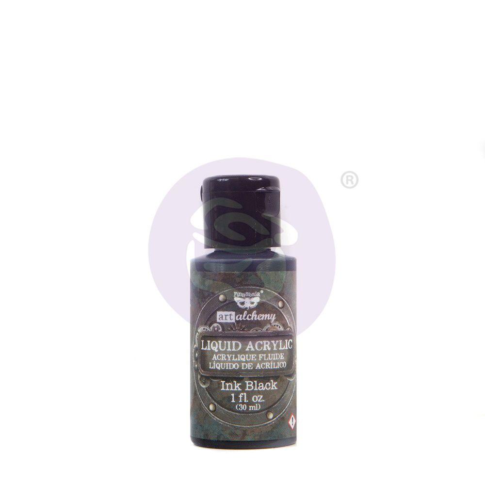 Prima Marketing Art Alchemy Liquid Acrylic Paint - Black